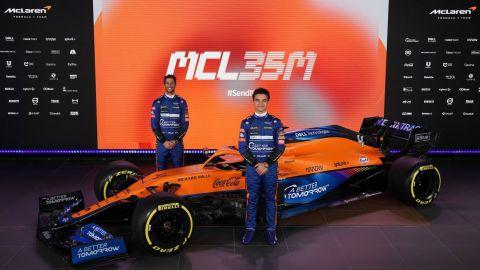 McLaren presenta el nuevo MCL35M, con motor Mercedes-AMG