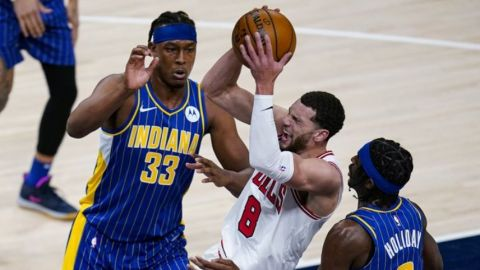 Bulls se impone 120-112 a Pacers en tiempo extra