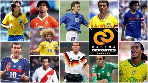 """CADENA DEPORTES PODCAST: Los auténticos """"10"""" del futbol mundial"""