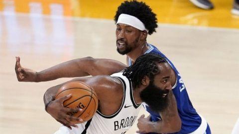 Harden y Harris lideran a unos Nets en racha ante Lakers