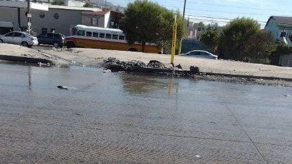 Sin agua en Tijuana por taponamiento