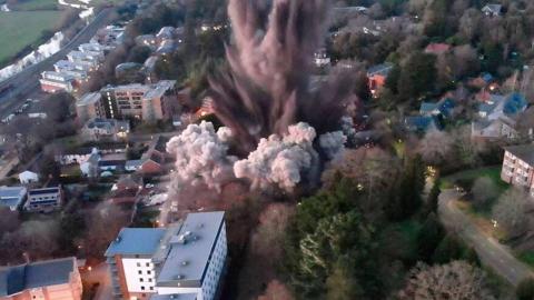 VIDEO: Explota bomba de la Segunda Guerra Mundial en Reino Unido