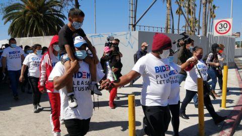 Migrantes se movilizan, organizan marchas pacíficas