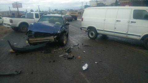 Incidentes de tránsito leves ante las lluvias