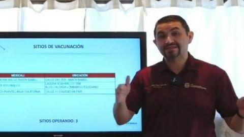 Continúa vacunación COVID-19 este día en Mexicali