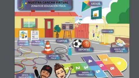 Maestros de Educación Física crean cancha virtual