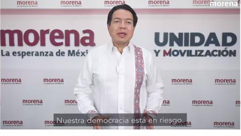 Morena va contra el INE en el tribunal, en las calles y en las redes: Delgado
