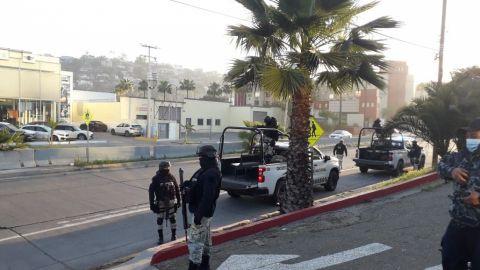 Guardia Nacional resguarda sitio de vacunación en Tijuana