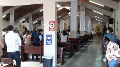 Afluencia de feligreses en Iglesias de Tijuana (VIDEO)