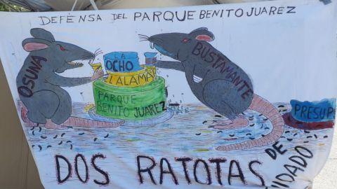 Activistas luchan por defender el parque Benito Juárez