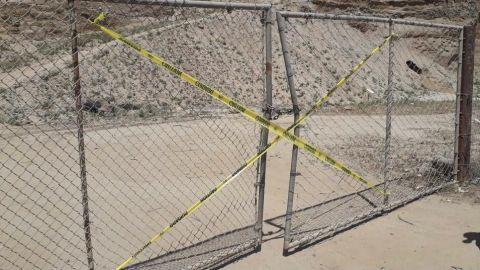 Clausura Protección Civil obra de extracción de arena