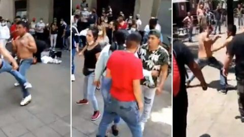 VIDEO VIRAL: Riña campal en calles del Centro Histórico de la CDMX