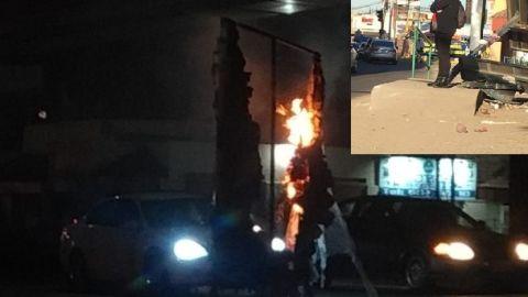 Vandalizan paradero en bulevard Industrial de Tijuana