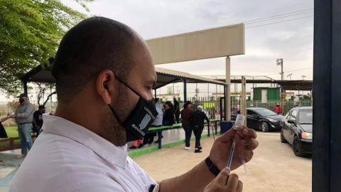 Vacunación en Mexicali con AstraZeneca; segunda dosis