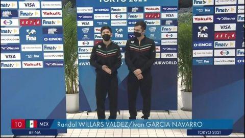 Clavadistas Iván García y Randal Willars amarran plaza olímpica para México