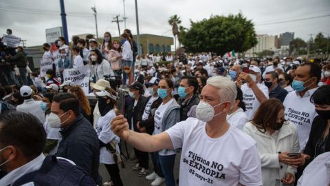 Jorge Ramos, en la manifestación por la expropiación del Club Campestre