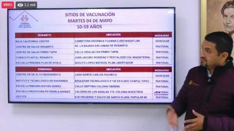 Puntos de vacunación para adultos de 50 a 59 años este martes