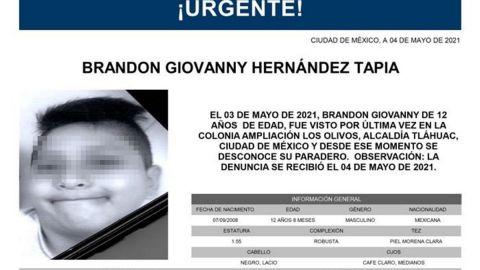 Confirman fallecimiento de Brandon en el metro; su familia lo buscaba