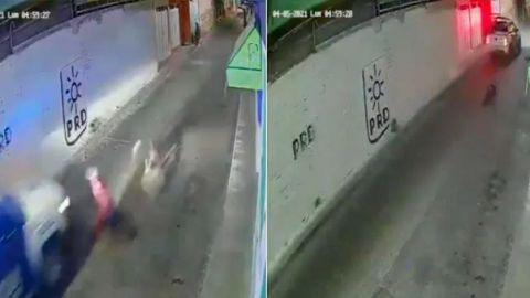 Policías atropellan y abandonan a ciclista de la tercera edad en Guanajuato