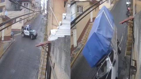 Calle se convierte en ''resbaladilla'' de concreto y provoca accidentes