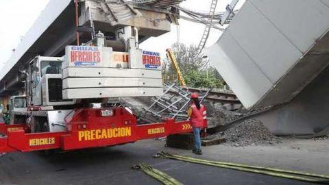 Inicia retiro de escombros tras desplome de L12