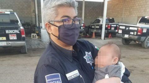 En pleno Día de las Madres abandonan a bebé en calles de San Luis Río Colorado