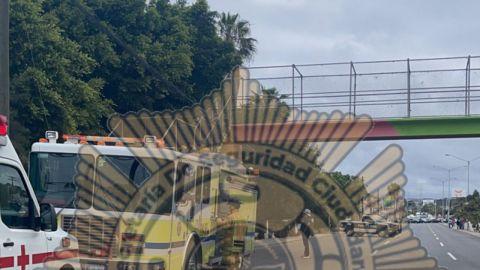 Encuentran a hombre sin vida en un puente peatonal en Playas de Rosarito