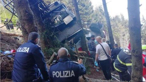 Suman trece muertos tras accidente en teleférico italiano