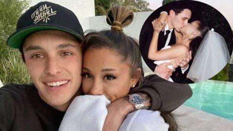 Ariana Grande comparte románticas fotos de su boda
