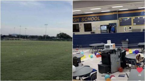 Suspenden a 40 alumnos en Texas por clavar tenedores en una cancha