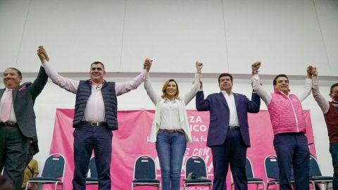 Todo el partido Fuerza por México apoya a Marina del Pilar