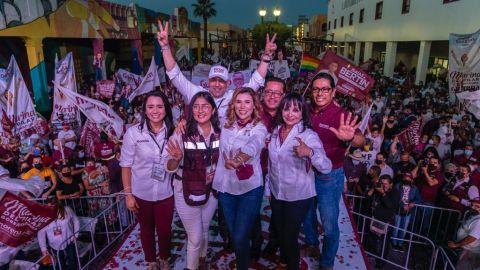 'Le cumpliremos a Baja California': Marina del Pilar cierra campaña en Mexicali