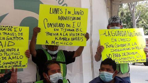 Migrantes se manifestarán en el Consulado de Estado Unidos en Tijuana