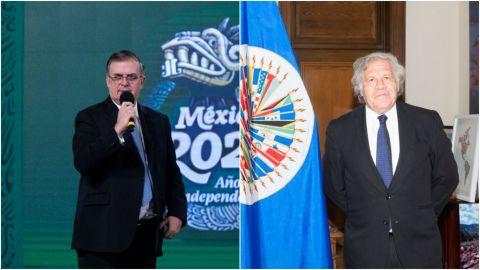 Secretario de OEA a Ebrard: 'yo le deseo que ninguna obra más se le derrumbe'