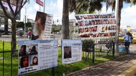 Familiares de desaparecidos realizan recaudación de fondos en Tijuana