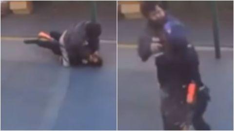 'Los chinos no pertenecen aquí'; hombre ataca a oficial de policía asiática