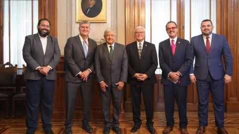 Jaime Bonilla visita a AMLO en Palacio Nacional