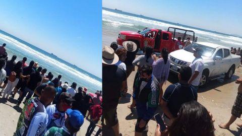 Encontraron a los menores que presuntamente habían sido arrastrados por las olas