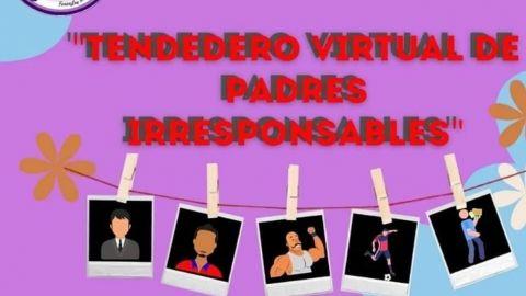 Exponen en tendedero virtual a padres irresponsables