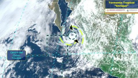 Cierran puertos de La Paz y Los Cabos por tormenta tropical 'Enrique'