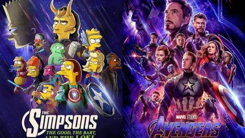 ¿Multiverso? Los Simpson anuncian corto con temática de Marvel para Disney Plus