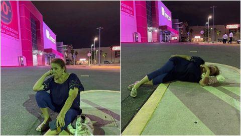 Mujer se queda a dormir en estacionamiento por no querer pagar boleto perdido