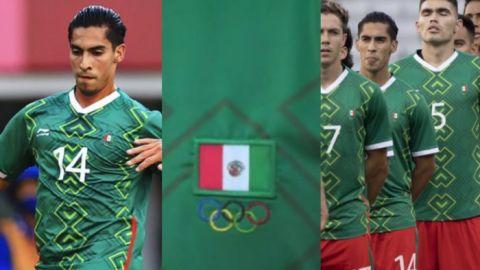 México sale con error en la bandera del uniforme de Erick Aguirre