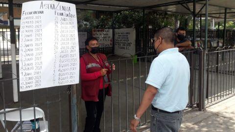 Vienen de otros estados a vacunarse a Tijuana, pero no hay primeras dosis