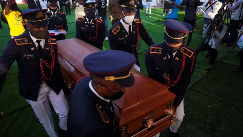 Un total caos el funeral de Jovenel Moïse, presidente de Haití que fue asesinado