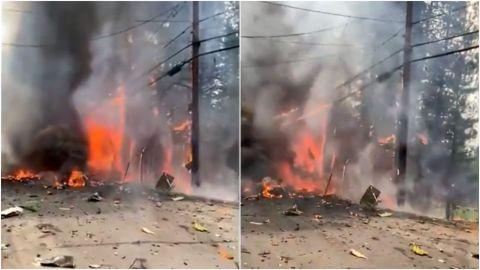 VIDEO: Cae avioneta en California y provoca fuerte incendio forestal