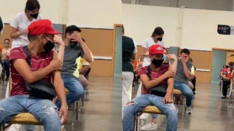 VIDEO: Joven se hace viral por gritar mientras recibe vacuna contra el COVID-19