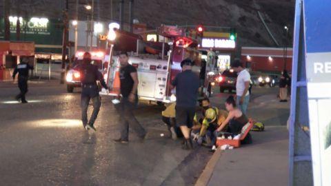 Hombre es atropellado por patrulla en Blvd. Sánchez Taboada