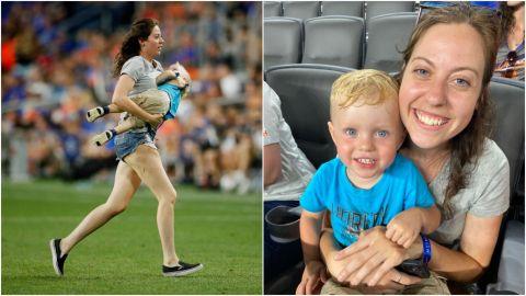📹 VIRAL: Niño de dos años invadió la cancha en MLS y su mamá va por él.