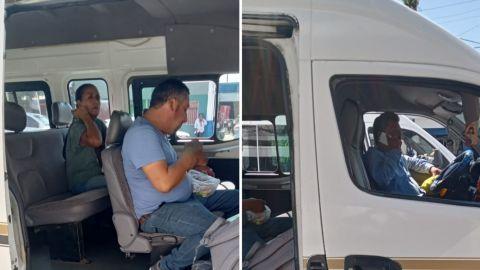🎥 Checador de taxis discute con pasajero: no usa cubre-bocas